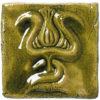 dekor ceramiczny z motywem secesyjnym