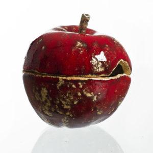 jabłko cukierniczka z gliny szamotowej