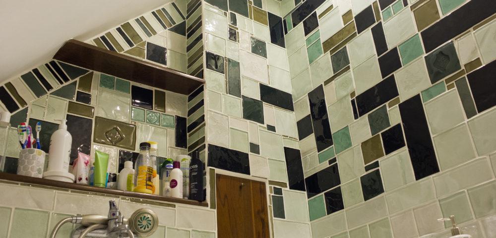 szklana mozaika, mieszkanie strychowe