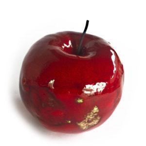 ceramiczne jablko, czerwone