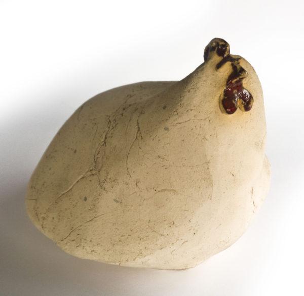 ceramiczna kura nieszkliwona