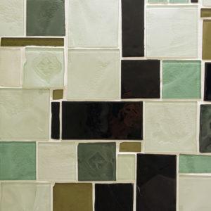 ściana mozaika szklana