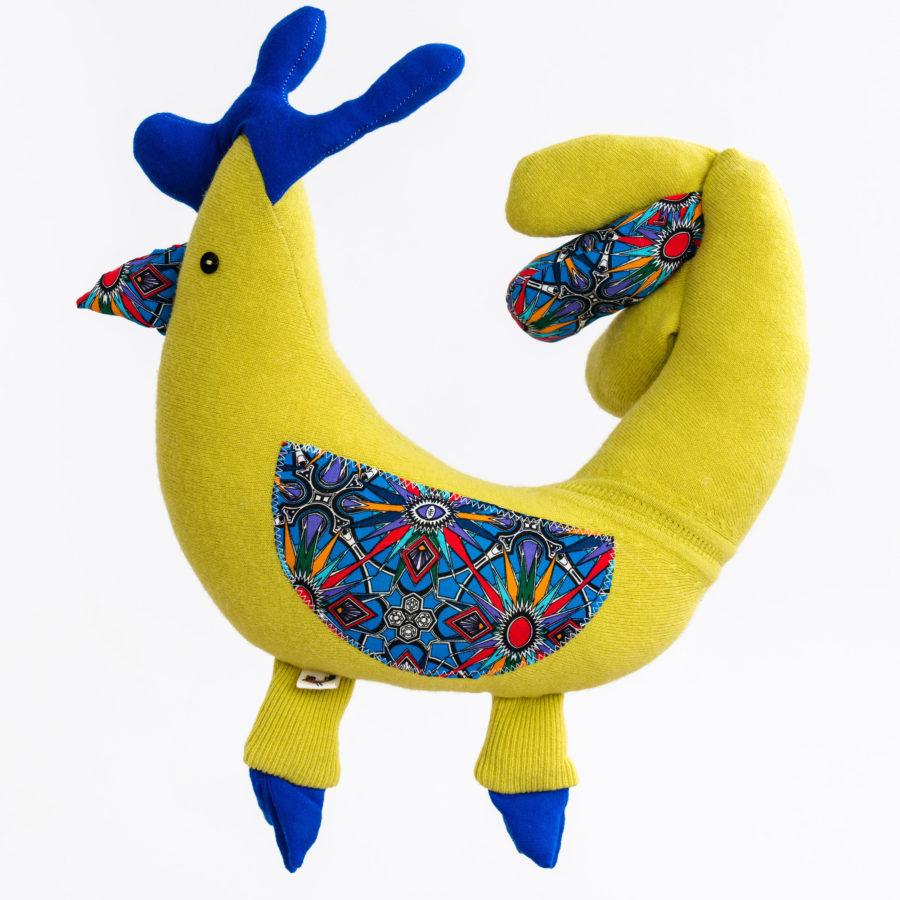 podgłówek w kształcie kury