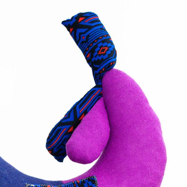 ręcznie szyta poduszka w kształcie kury, cuddly, hand-sewn pillow